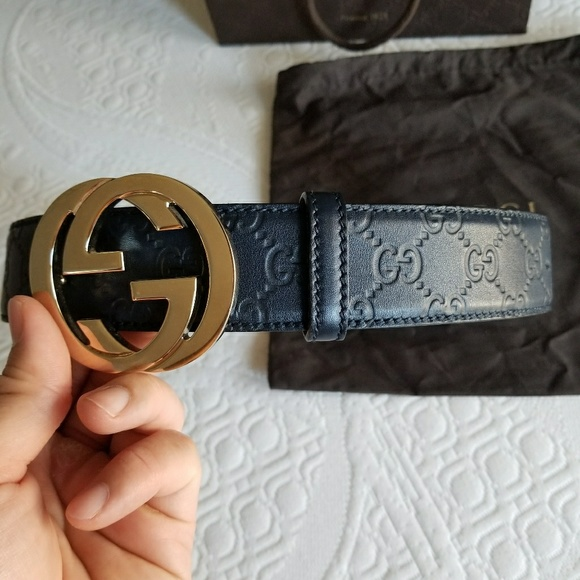 5a581078 Gucci Interlock Belt Men US 32 to 36